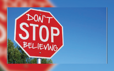 Don't stop believing! Hold onto that feeling! Hard to do when the record feels stuck!